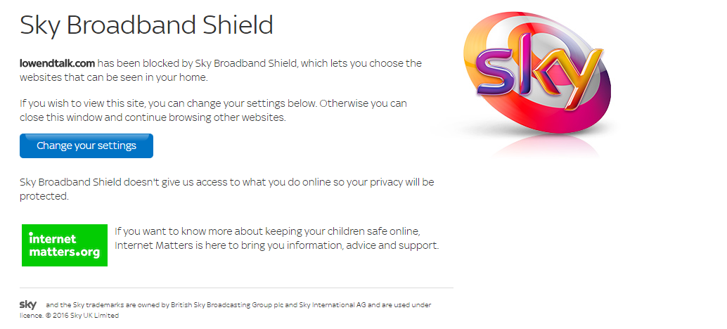 Kimsufi access blocked sky broadband uk lowendtalk this would be funnier ccuart Images